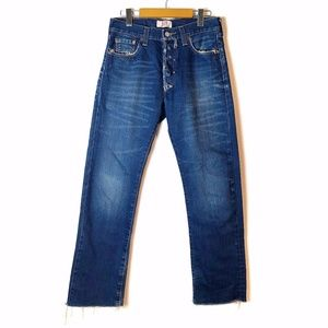 Men's Levis 501 Straight Leg Button-Fly